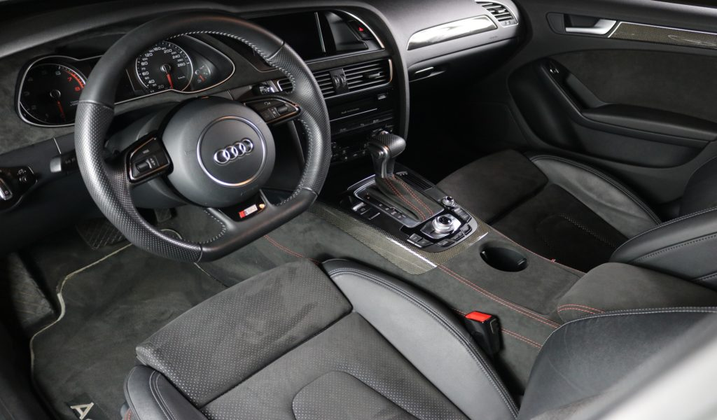 Audi A4 with orange seam