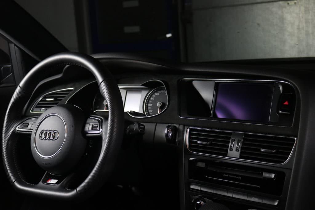 Audi A4 with orange seam