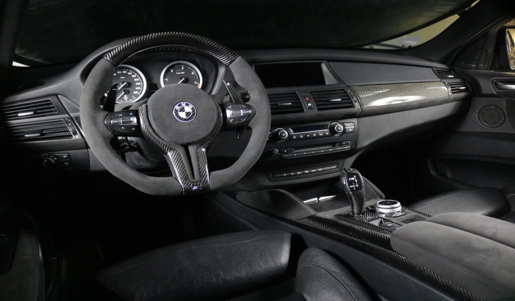 BMW X6 black series interior